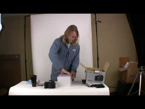Canon EOS 5d Mark II box opening with Photo John of Photographyr...