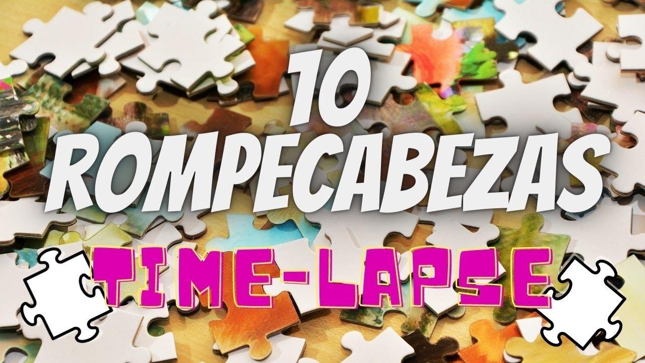 MARATON de 10 ROMPECABEZAS EN TIMELAPSE - #2