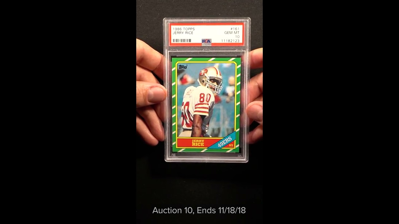 1986 Topps Football Jerry Rice Rookie Rc 161 Psa 10 Gem Mint Pwcc
