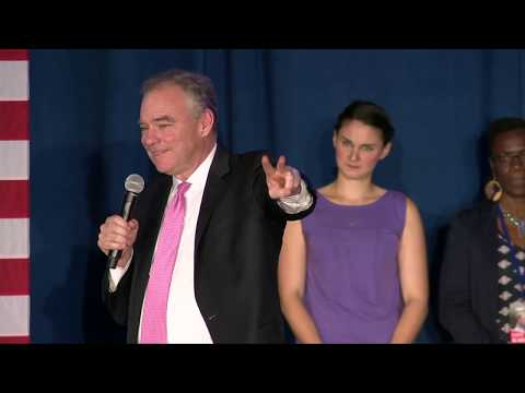 Sen. Tim Kaine: On election night Virginia showed its \'values\'