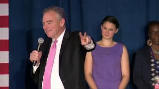 Sen. Tim Kaine: On election night Virginia showed its \'values\'
