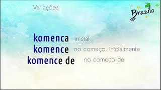 KOMENCO substantivo em Esperanto
