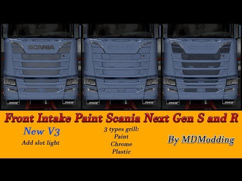 Front Intake Full Paintable Scania Next Gen S and R V3