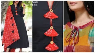 Designer neck making tips,simple kurti neck design ideas,dori neck pattern
