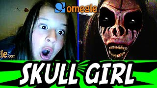 Skull Girl Scare on Omegle !