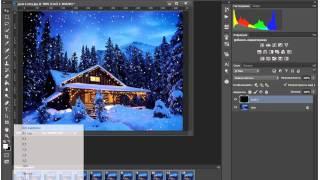 Как создать анимацию в Photoshop. Урок 2. Анимация снега