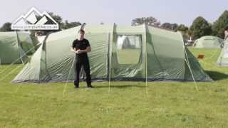 Vango Waterproof Odyssey 800 Unisex Outdoor Tunnel Tent Available in Green 8 Persons
