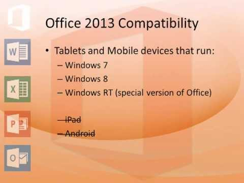 Using Office 2013 On Mobile Devices