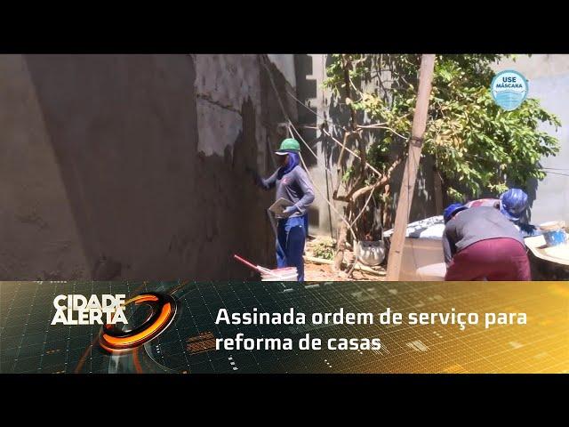 Assinada ordem de serviço para reforma de casas em três grotas de Maceió
