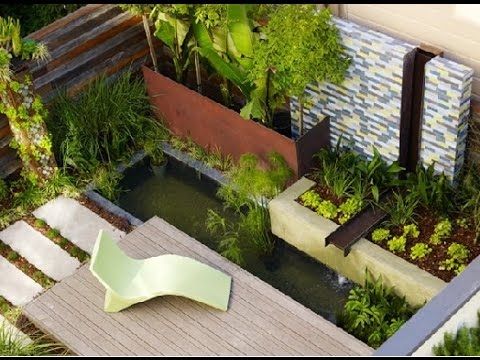 Contemporary garden design ideas youtube for Modern garden design for small spaces