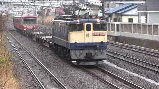 【EF65-2065牽引】伊豆箱根鉄道 大雄山線 5000系 5501編成 甲種輸送