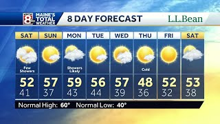 Chilly with a few showers Saturday; mostly sunny skies Sunday