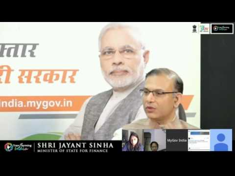 An interactive session with MoS for Finance Jayant Sinha on the government's financial schemes