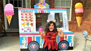 Kids Pretend Play with Ice Cream Truck Toy fun video