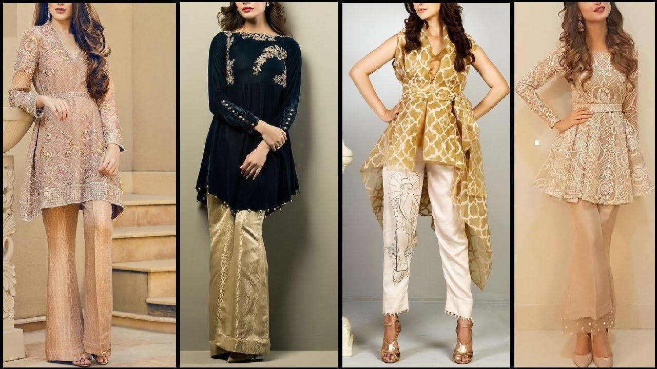 Latest Pakistani Fashion Short Frocks With Capris