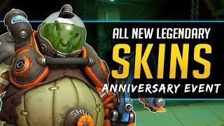 Overwatch ALL New Legendary Skins plus Emotes, Voicelines, & more - Overwatch Anniversary Event 2019
