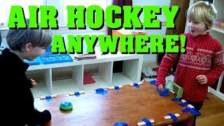 Hover Hockey - Air Hockey Anywhere! - SuperTwins TV Toy Review