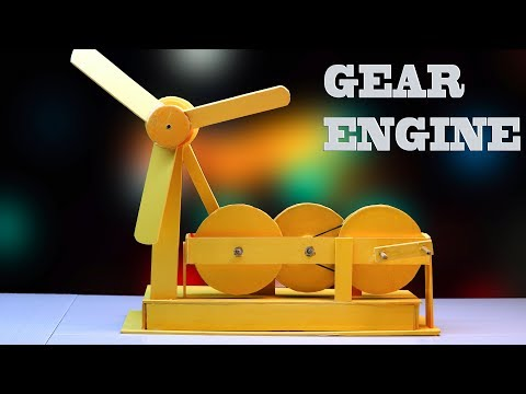 How to make Free Energy Gear Engine at home || DIY machine