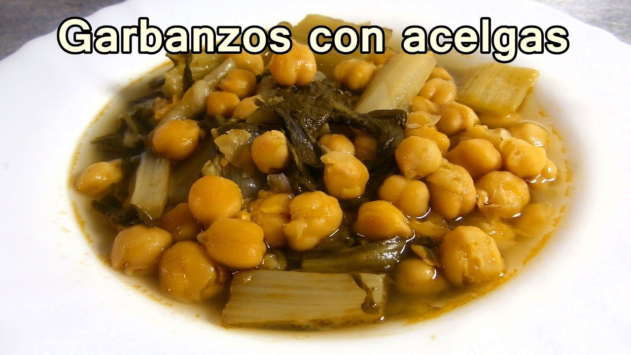 Recetas De Cocina Con Garbanzos | Garbanzos Con Acelgas Saludables Recetas De Comida Sana