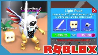 Buying *NEW* Light Pack in Roblox Mining Simulator