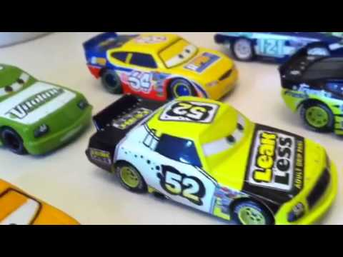 Disney Cars Speedway Of The South Race Cars Collection Youtube