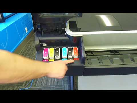 HP Designjet Z5600 How to Change the Ink Cartridge