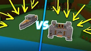 Castle VS. Battleship! | Build A Boat For Treasure ROBLOX