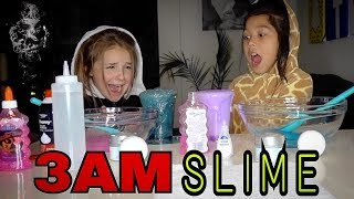 MAKING SLIME AT 3AM CHALLENGE W/Piper Rockelle!! Very BAD IDEA!! | Txunamy
