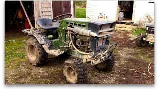 Sears Diesel Mud Tractor Cold Start