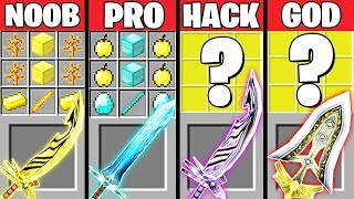 Minecraft Battle: ABILITY SWORD CRAFTING CHALLENGE - NOOB vs PRO vs HACKER vs GOD ~ Animation
