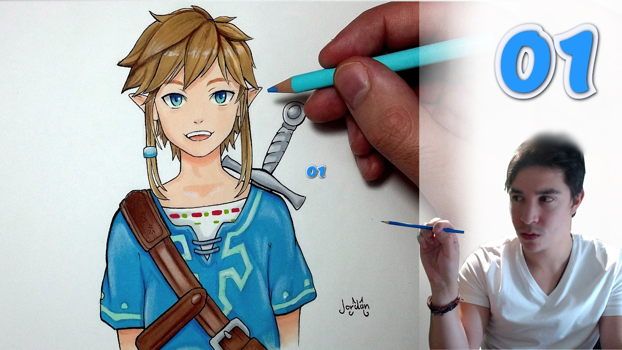 Comment Dessiner Link Tuto 1 Zelda Breath Of The Wild