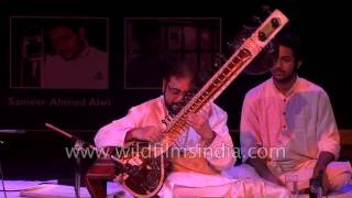Sitar player Pt. Kushal Das and Tabla player Ustaad Akram Khan in Delhi