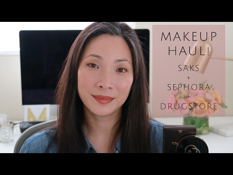 Makeup Haul - Luxury & Drugstore! Saks + Sephora + Walmart