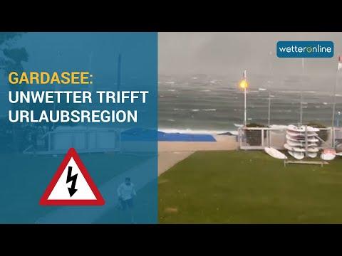 Unwettertief Bernd: Schweres Gewitter am Gardasee und Land unter in Deutschland