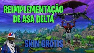 REIMPLEMENTAÇÃO DE PARAQUEDAS E SKIN GRÁTIS - Fortnite Battle Royale