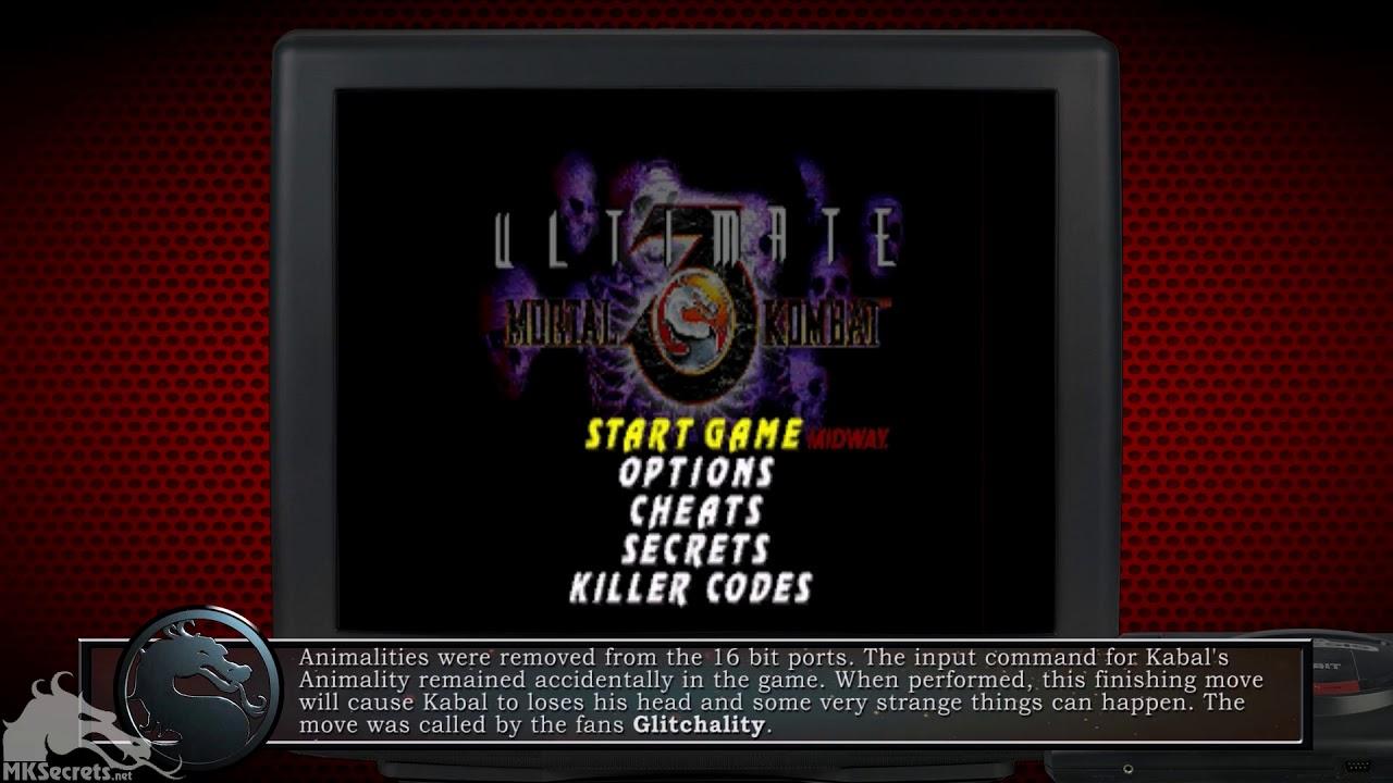 Mortal Kombat 3 Moves Mega Drive