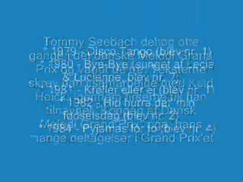Tommy Seebach - Du' Det Dejligste ( live fra hit med sangen) + Fakta