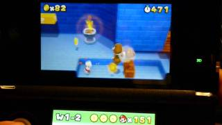3DS Super Mario 3D Land Unlimited 1Up's スーパーマリオ 3Dランド 無限1up法