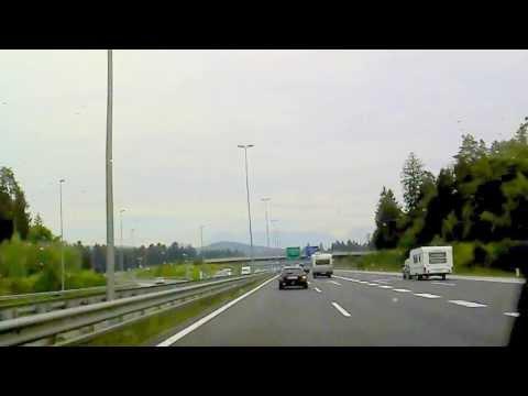 1.9.2013 11: Autobahnfahrt Auf Slow. A1 (E61) Bei Ljubljana