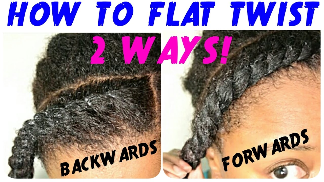 how to style hair with a flat iron flat twist tutorial on hair two ways 8352