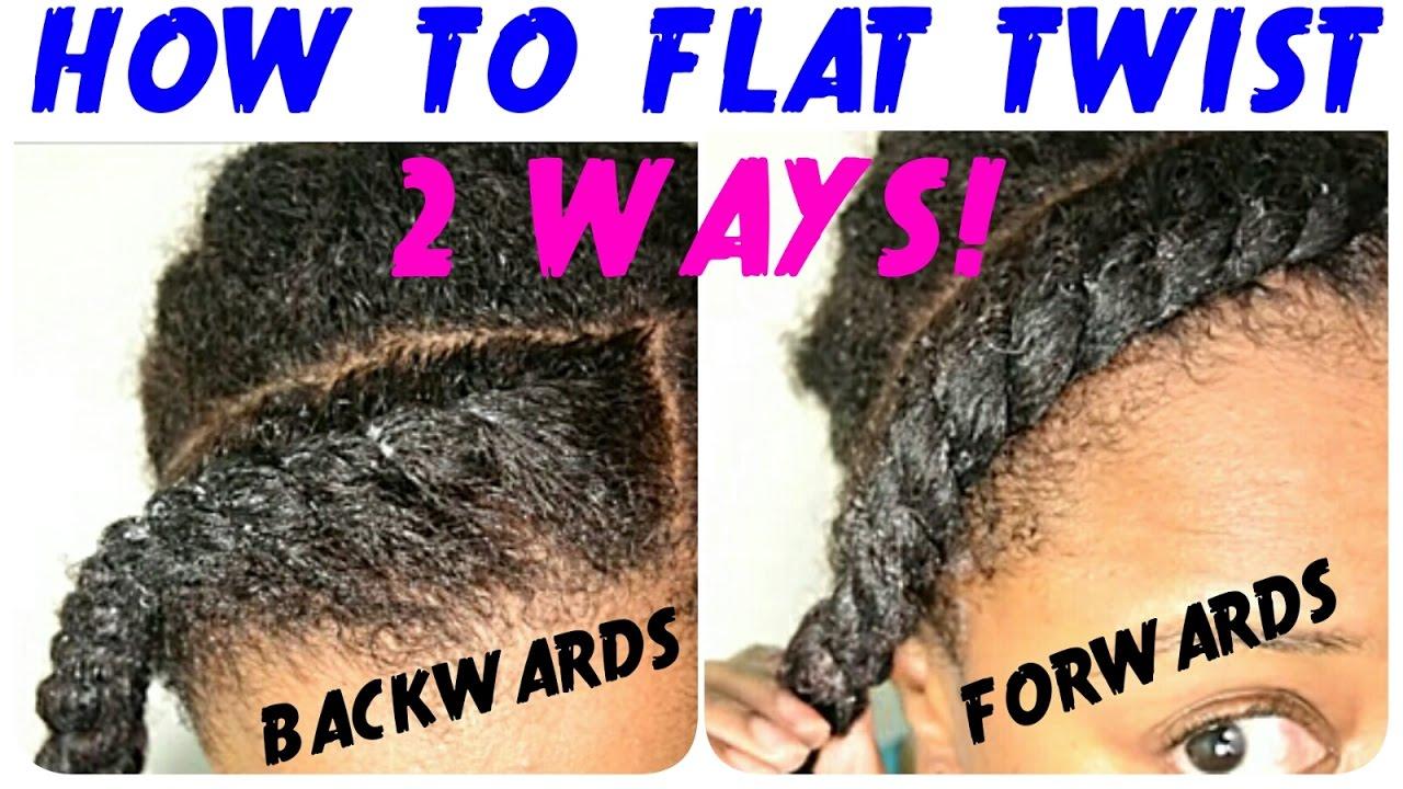 flat twist tutorial natural