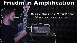 Friedman Dirty Shirley Mini_Demo_ 20 watts of killer tone!