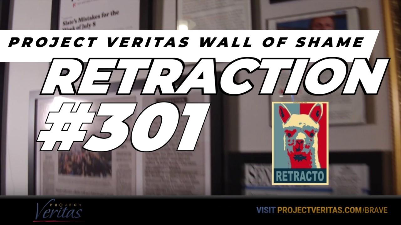 Project Veritas Wall of Shame Retraction #301- Jordan Fenster, The Hour