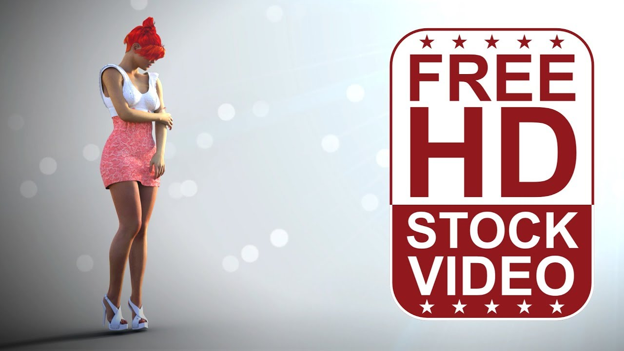Free Hd Video Backgrounds Woman Posing On White Background With Lens Flare Youtube