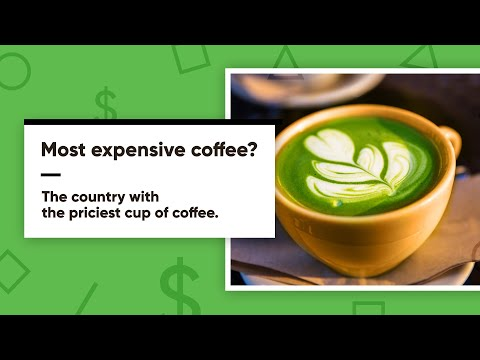 MOST EXPENSIVE CUP OF COFFEE IS SOLD IN THIS COUNTRY