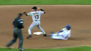 SF@LAD: Vizquel makes a heads-up play to get the DP