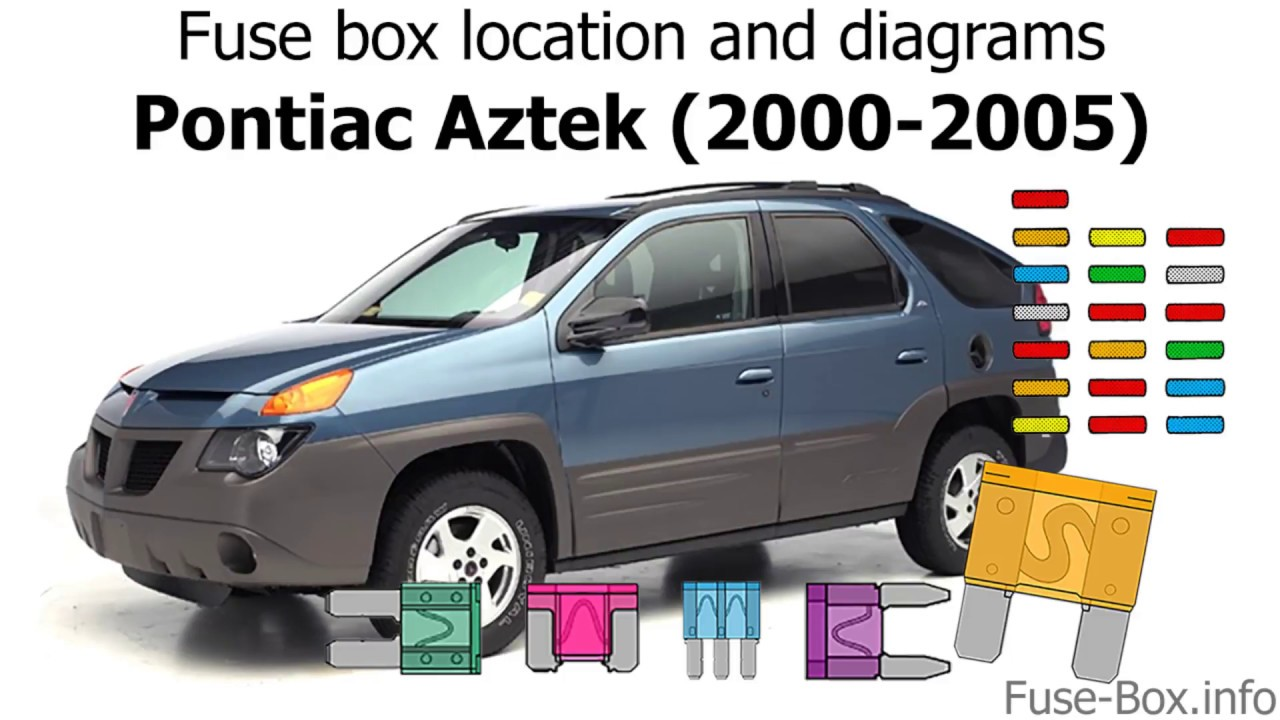 medium resolution of fuse box location and diagrams pontiac aztek 2000 2005