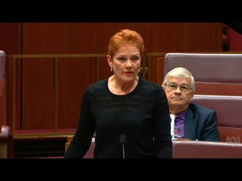 Muslim-baiter Hanson wears burqa in Australia's Senate