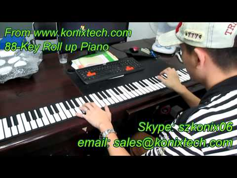 Walmart - Get on the Shelf - 88-Key Roll Up Piano by KonixTech