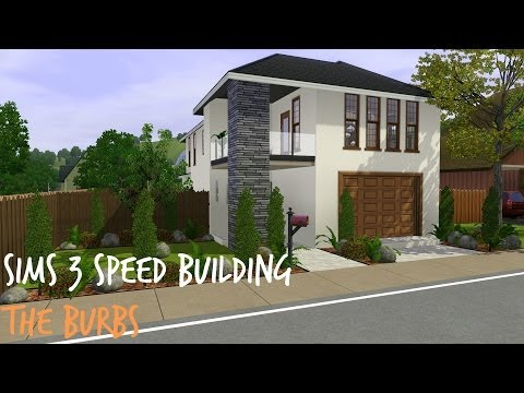 Sims 3 Speed Building - The Burbs